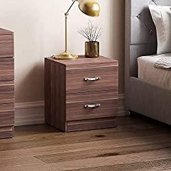 Product Colour: Walnut Product Size: H 47 x W 40 x D 36 Cm Approx. Product Material: Composite Wood Product Brand: Vida Designs Product Cleaning Instructions: Wipe With A Dry Cloth