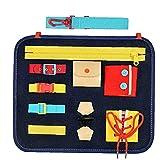 Junta Ocupado ni?o educativo de los juguetes de fieltro de aprendizaje Montessori habilidades b¨¢sicas de Navidad para ni?os juguetes educativos