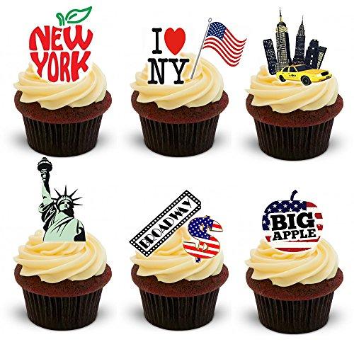 30 Stand Up New York City Thème plaquette comestibles Papier Cake Toppers décorations