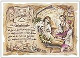 Geschenk Zahntechniker Zahntechnik Zeichnung Color 20 x 15 cm -