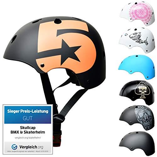 SkullCap® Kids BMX & Skate Helmet - Bicicleta Y Scooter Eléctrico, Diseño: No. 5, Talla: S