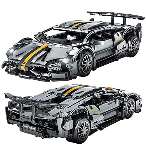 Bloques de construcción de la serie de coches deportivos 1300 + piezas de construcción de maquetas, bloques de construcción pedagógica, para niños, juguete de coche compatible con Lego.