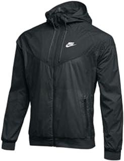 7b445341a2be Nike Mens Full Zip Windrunner Jacket Black Black-White Size XXL