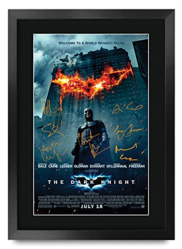 HWC Trading A3 FR The Dark Knight Christian Bale Gifts Posters Printafdruk Handtekeningen Voor De Film Herinnerde Van…