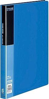 コクヨ ファイル クリアファイル 固定式 青 A4縦 40枚 ラ-B40B