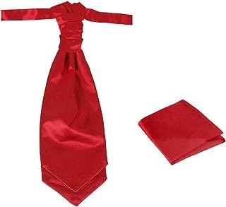 Dan Smith Men's Fashion Pre-tied Cravat, Hanky Available, Adjustable Neck Size 20