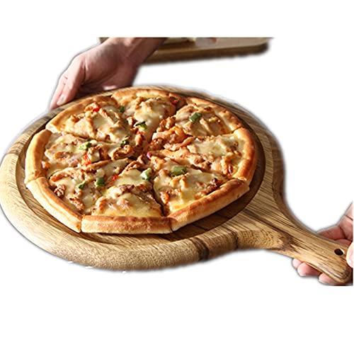 QiHaoHeji Spatola Pizza Grande Vassoio del Vassoio della Pizza panetto Rotondo Tagliere Quadrato a Tagliere da Portata Piastra Vassoio Utensili da Cucina (Colore : Wood, Size : 40x30x2cm)