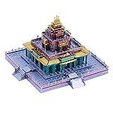IPOTCH Puzzle 3D de Metal de Templo Budista Tibetano / Juego de Modelos de Construcción para Regalos 105 Piezas