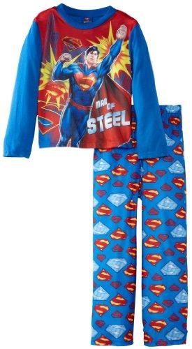 Superman Little Boys' Spiderman 2 Piece Sleep Set, Multi, 6