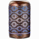 260ml Essential Oil Diffuser, ARVIDSSON Metal Aromatherapy Diffusers for Essential Oils, 7 Colors Changing Light & Whisper-Quiet, Best Gift Idea