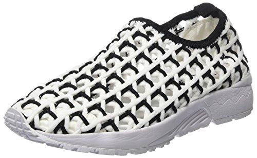 Colors of california Sneaker in Woven Material, Basket Femme, Noir Multicolore, 38 EU
