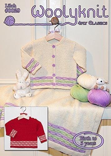 0029 - Lilah - Breipatroon van Woolyknit  4ply gebreid patroon   0-5 jaar   baby's vest en trui