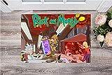 QNNN Alfombrillas Harry Potter, Rick y Morty, Batman, Get Schwifty Felpudo, Multicolor-A_60*90