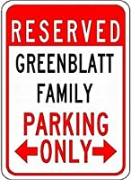 金属サイン緑の家族駐車場ノベルティスズ通り徴候
