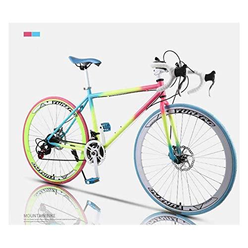 Bicicleta De Carreras, Bicicletas De 24 Velocidades Y 26 Pulgadas, Freno De Doble Disco, Estructura De Acero Al Carbono, Carreras De Bicicletas De Carreras, Hombres Y Mujeres Para Adultos,40 knife