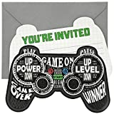 Blue Panda 24-Pack Video Game Birthday Party Invitation with Envelopes, 5 x 7 Inches