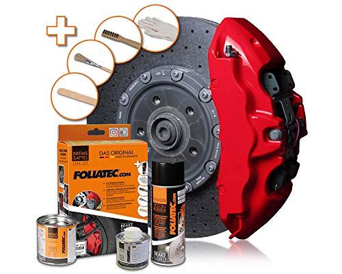 Foliatec - 2160 - Kit peinture étriers de freins - Rouge (rosso-rot)