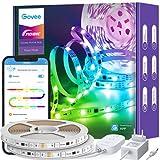 Govee RGBIC Ruban LED 10m, Bande LED Bluetooth Multicolore, Contrôlé par APP et Contrôle Segmenté Intelligente Sélection des Couleurs, Sync avec Rythme de Musique pour Maison Chambre Fête Bar Cuisine