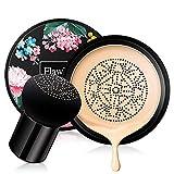 Mushroom Head Air Cushion BB Cream,Concealer Lasting Nude Makeup Moisturizing Pigment CC Liquid Foundation, Even Skin Tone Makeup Base Primer(Natural)