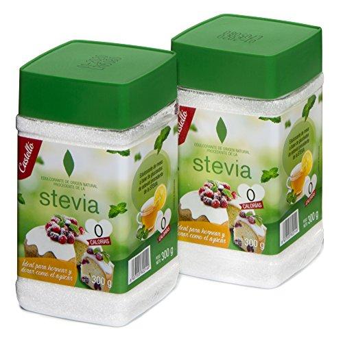 Castelló Since 1907 Edulcorante Stevia + Eritritol 1:1 - Paquete de 2 x...