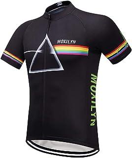 ec5f2bbff485 Moxilyn Maglie da Ciclismo Uomo,Maglietta Corta,Maglie Ciclismo Skinsuit, Abbigliamento da Ciclismo