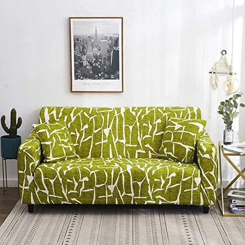 YWYW Fundas para sofá Todo Incluido Antideslizante seccional en Forma de L esquinero Funda para sofá Funda elástica para sofá 1/2/3/4 plazas Lima 3 plazas (195-230cm)