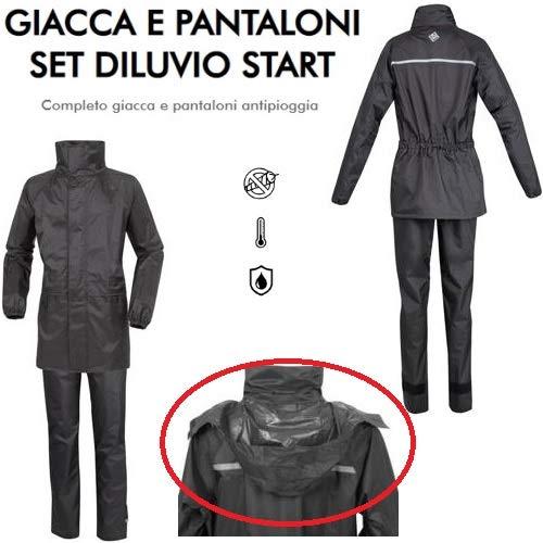 Jas en broek voor motorfiets, scooter, maat S Tucano Urbano 567, set met strass, ergonomische badjas + 2 zakken.