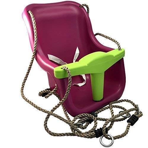 Loggyland Babyschaukelsitz mit Seil und...