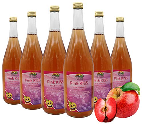 Bleichhof Apfelsaft Pink Kiss - 100% Direktsaft, mit 10% Weirouge (rotfleischiger Apfel), 6er Pack (6x 0,95l)