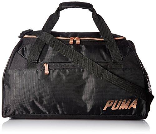 PUMA womens Evercat Align Duffel, Black/Gold, One Size