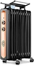 Zzq- Radiador De Aceite De 9/11/13/15 Elementos, 1500/2000W/2200W Watios, Dispone De 3 Ajustes De Potencia Y Control Termostático De Temperatura