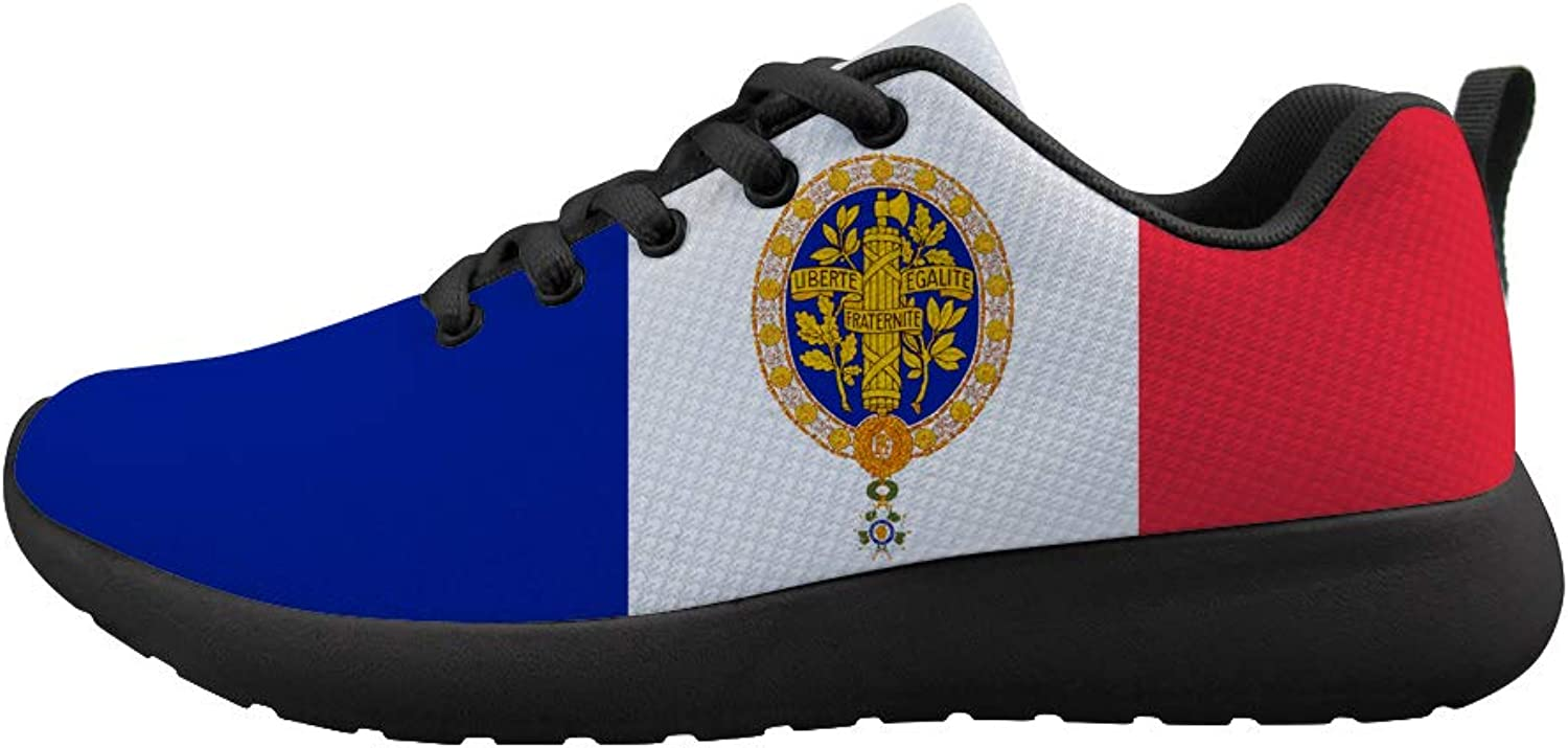Owaheson Cushioning Sneaker Trail Running shoes Mens Womens France Flag French National Emblem