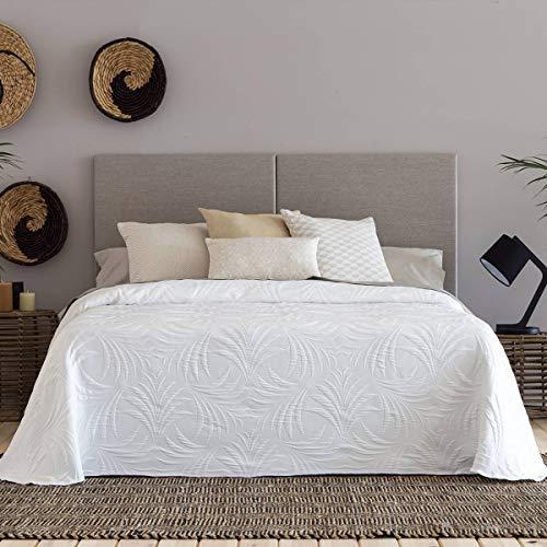 Confecciones Paula - Colcha Capa Libia - Cama 150 cm - Color Blanco