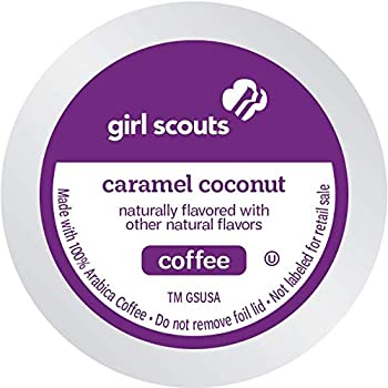 Girl Scout Coffee Single Serve Pods for Keurig KCup Brewers Caramel Coconut 72 Count
