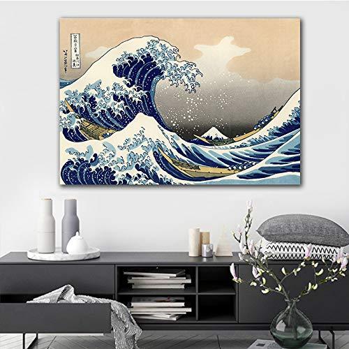 GJQFJBS Leinwand Gemälde Japanische traditionelle Plakat Vintage Wandkunst Bild für Wohnzimmer Home Decoration A3 50x70cm