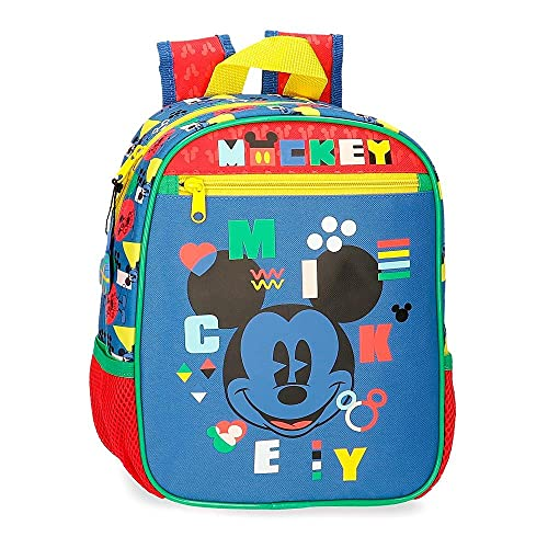Disney Mickey Shape Shifter Mochila Preescolar Adaptable a Carro Multicolor 23x28x10 cms Poliéster 6,44L