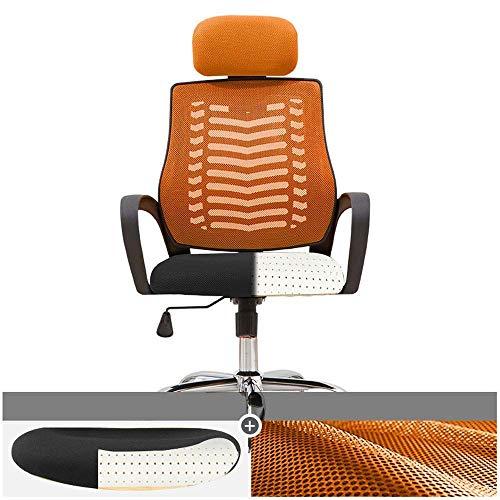 Wohnaccessoires ergonomisch bequemes Back Home Office einfacher Drehstuhl Computerstuhl 5 Farben erhältlich 360-Grad-Drehstuhl (Farbe: Schwarz) 4