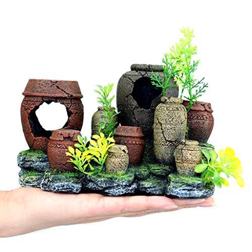 KJ-KUIJHFF Kreative Retro-Glas-Form Aquarium Landschaftsgestaltung Dekoration Vintage Deko Harz Versteck Garnelenzucht