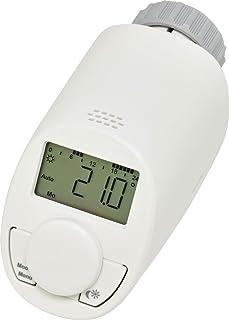 Eqiva CC-RT-N-EQ termoestato Gris, Blanco - Termostato (Gris, Blanco, M30 x 1.5 mm, IP20, LCD, Batería, AA)