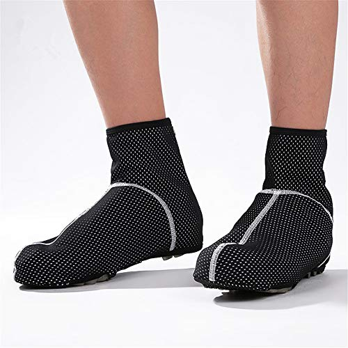 LUCHONG Cubiertas de zapatos de ciclismo impermeables a prueba de viento cálido, 1 par de cubiertas de zapatos de ciclismo a prueba de frío impermeables MTB Ciclismo Calentador, 45