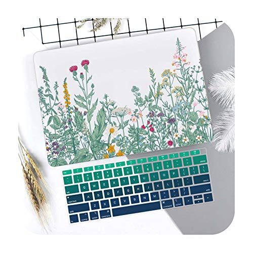 Marble Flower Pattern Laptop Case Keyboard Cover for New MacBook Pro 13 2020 A2338 Air 13.3 15 inch Retina Touch Bar A2251 A1932-J265-Retina 13 A1502