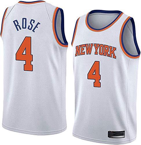 WHYYT Jerseys de la NBA de los Hombres - New York Knicks # 4 Derrick Rose Basketball Jersey, cómoda Camionero de Malla Bordada Transpirable,M(170~175CM/65~75KG)