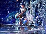 Adulto 12 Constelación Acuario Pintura de diamante DIY Mosaico digital 5D Punto de cruz Impresión Juego de bordado Hogar Cocina Decoración Artesanía creativa 15.7 * 19.7 pulgadas