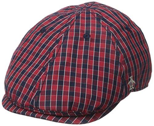 Original Penguin Men's Mini Check Driving Cap, Umbrella Red, One Size