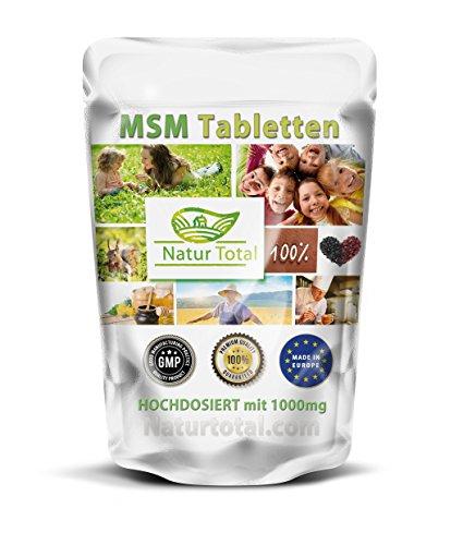 MSM-1000 (250 Tabletten) reine MSM (Methylsulfonylmethan)-Tabletten - hochdosiert mit 1000mg