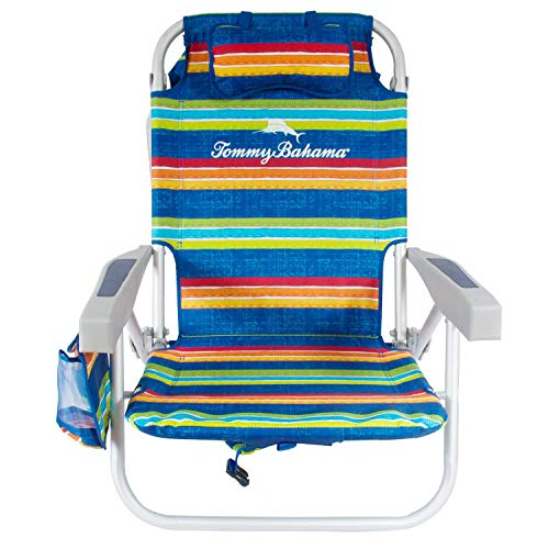 Tommy Bahama Backpack Cooler Beach Chairs - Multi-Striped