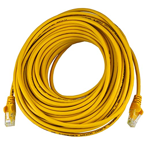 15M Long CAT5e Ethernet Cable Yellow Internet TV Router Wire Sky Q PS4 PS5 Xbox