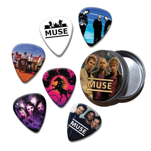 MUSE Set of 6 Loose Chitarra Picks Plettri in Tin ( Collection C )