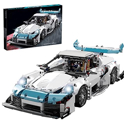 SENG Technik Sportwagen Bausatz, 1465 Teile Bausteine Auto Rennwagen Modell Klemmbausteine Bauset Kompatibel mit Lego