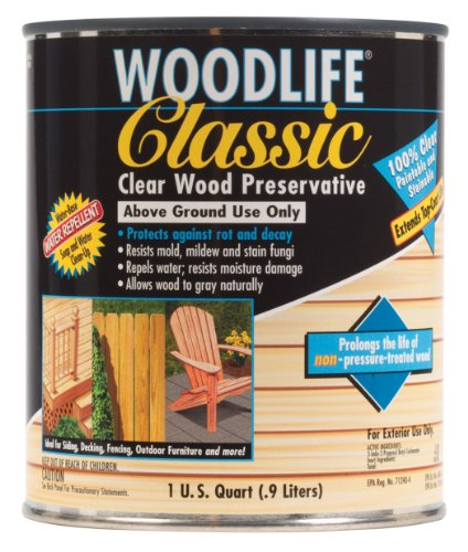 Rust-Oleum Clear 902 Wolman Classic Wood Preservative-Above Ground, Quart